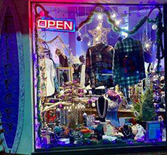 Long Beach, New York Holiday Window Decoration